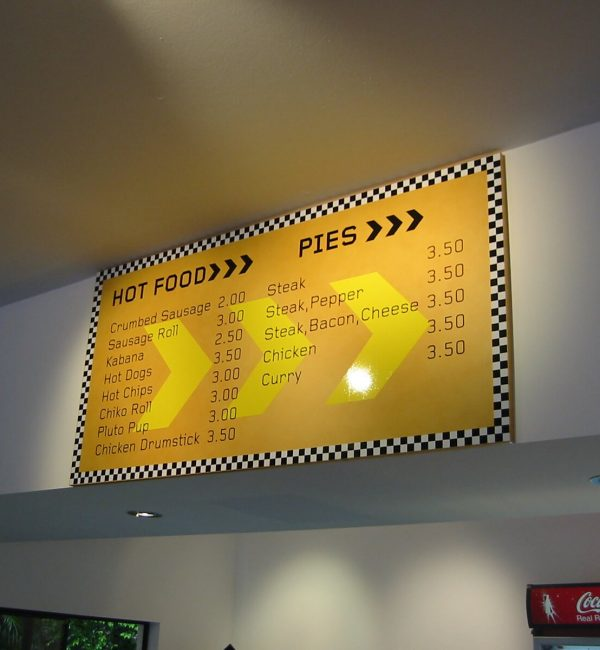 Point of sale signs