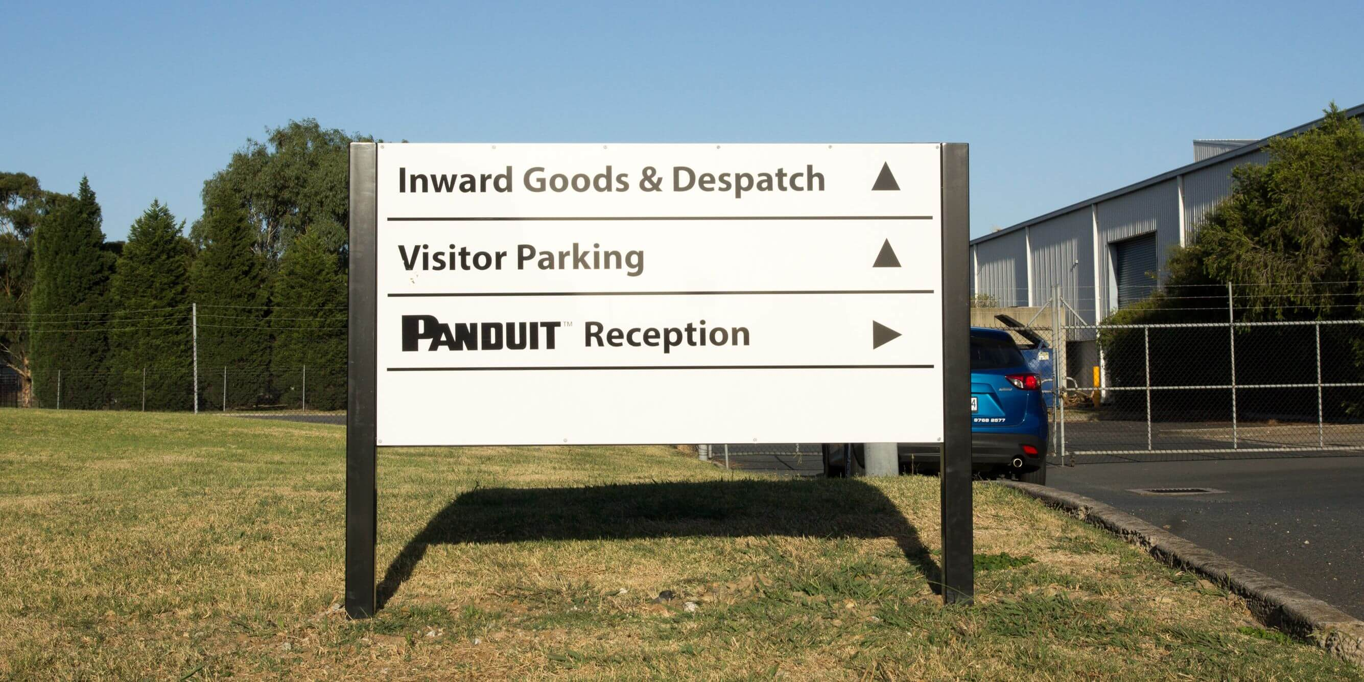 Metal Panel Amp Post Signs Signfix Industrial Limited